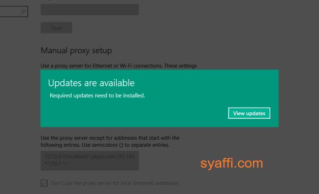 Notifikasi Update are Available Windows 10