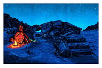 "Star Wars: The Force Awakens ""I'm No One"" Night Edition Screen Print by Tim Doyle & Spoke Art"