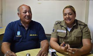 Secretário de Segurança Costa Velho com a subsecretária De Paula: interdições de trânsito no trajeto do Fogo Olímpico ocorrerão durante toda a manhã do dia 30 de julho