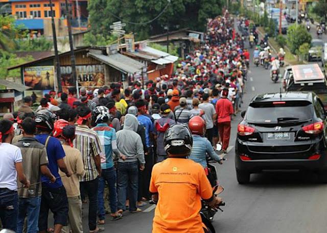 Peserta Aksi Jalan Kaki Ke Jakarta Mulai Banyak Yang Sakit