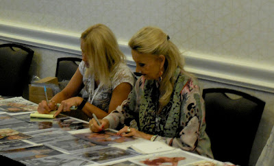 Barbara Bouchet signing autographs at Shore Leave 38 (July 2016)