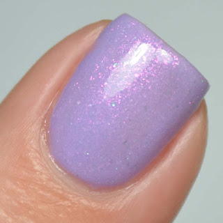 purple tri thermal nail polish