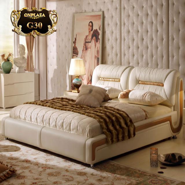 Giường ngủ hiện đại bọc da G80
