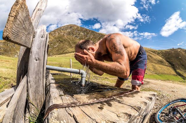 Mountainbike Tour Wasser nachfüllen Kleingitsch