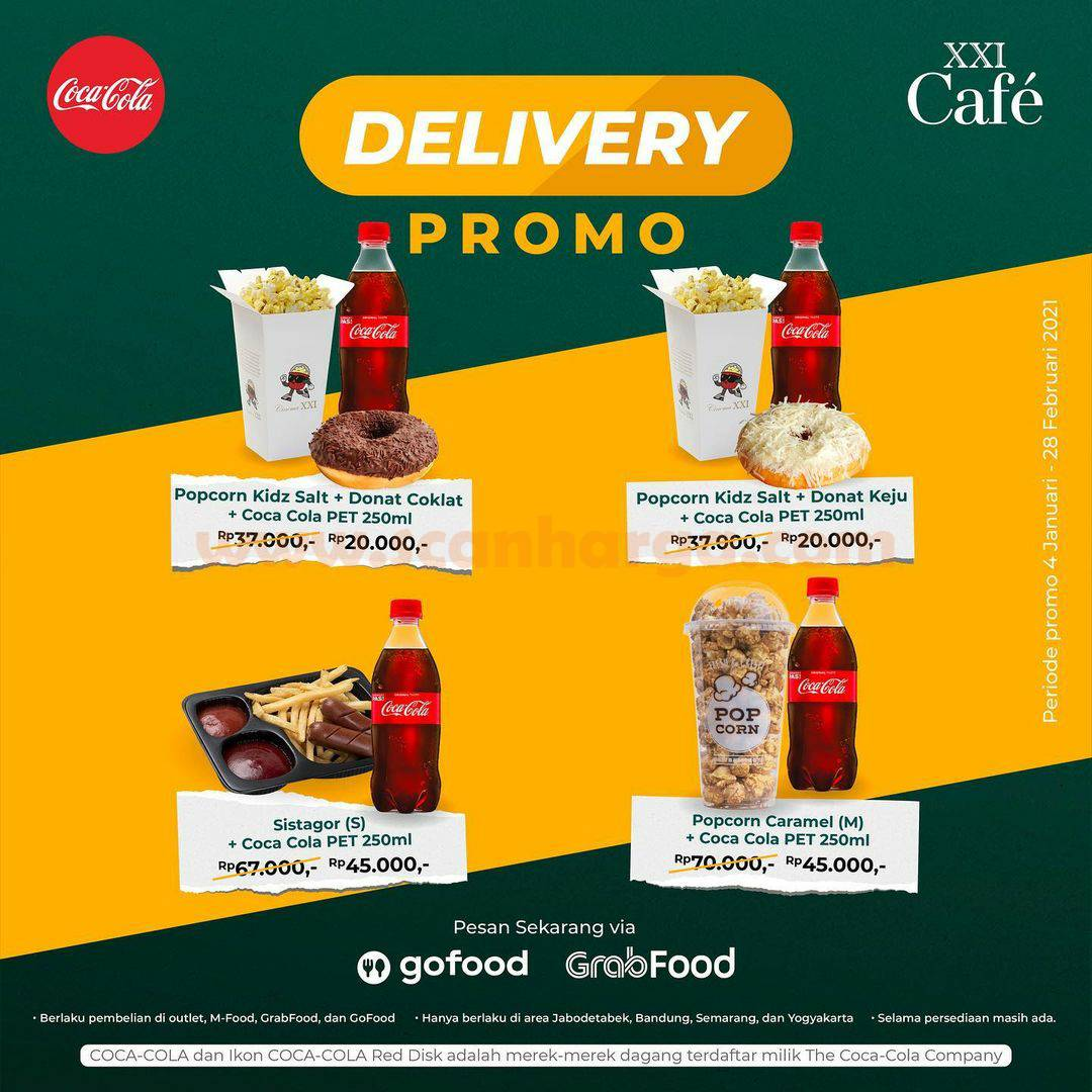 XXI Cafe Promo Delivery khusus pemesanan via Gofood & Grabfood