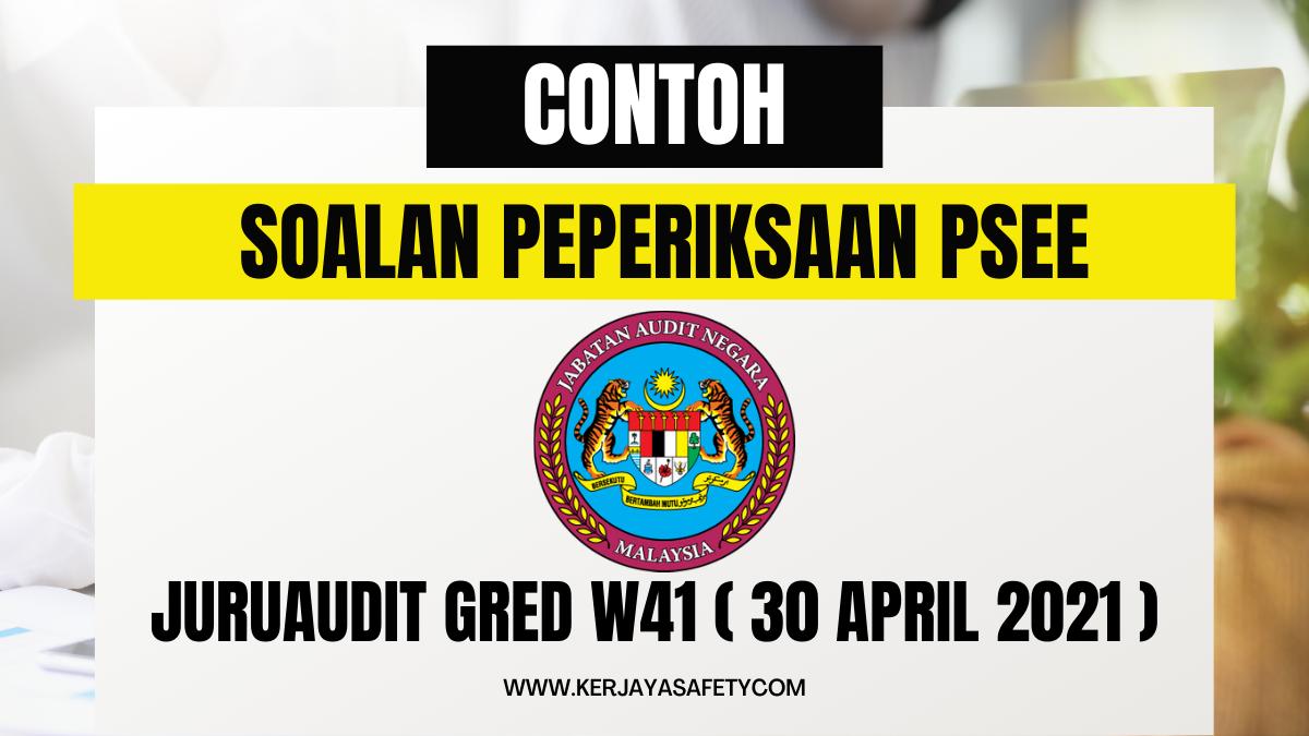 180 Contoh Soalan Peperiksaan Juruaudit Gred W41 30 April 2021
