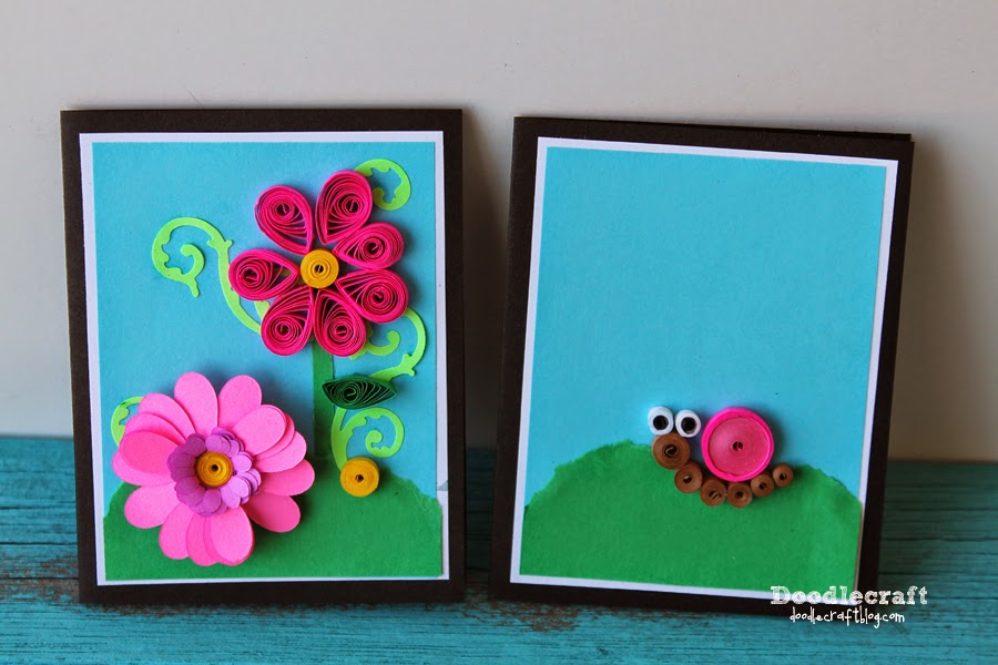 how to make a quilled flower card, quilling with paper.