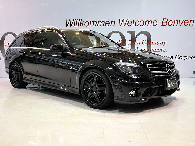 mercedes benz c63 amg wagon black w204 benztuning. Black Bedroom Furniture Sets. Home Design Ideas