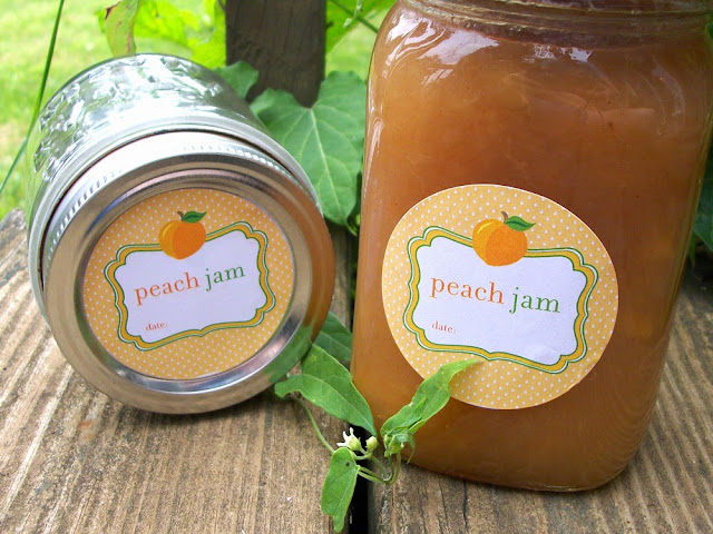 peach jam labels