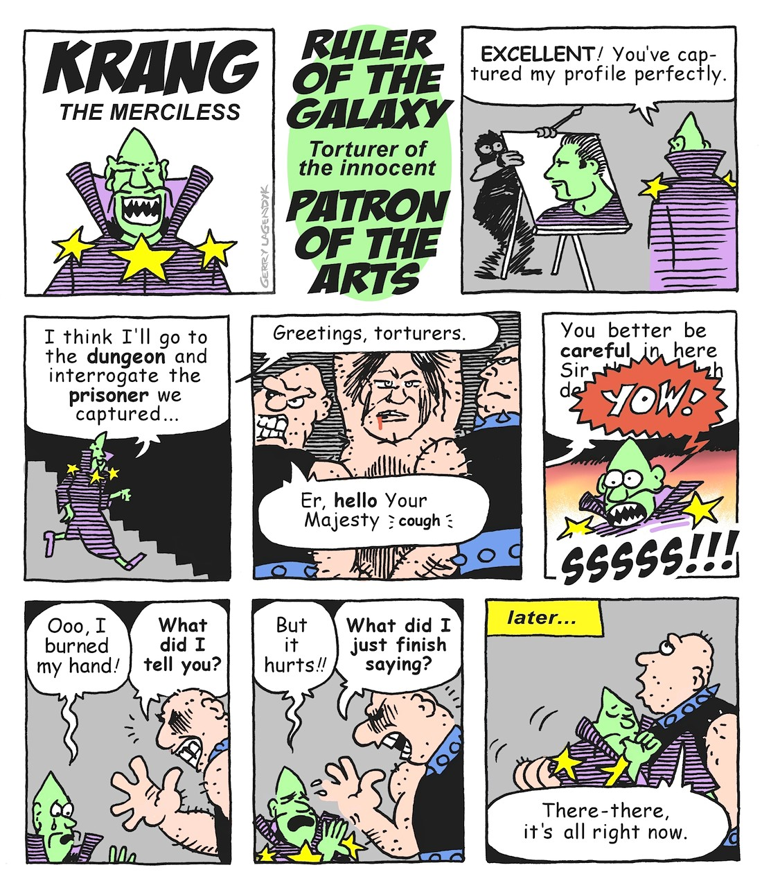 Krang the Merciless, a cartoon by Lagendyk