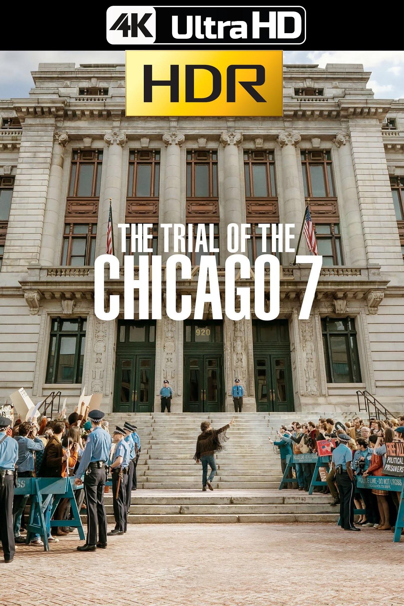 El juicio De Los 7 De Chicago (2020) 4K UHD HDR Web Latino