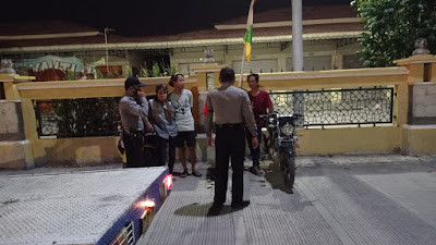 Sosialisasi Penanganan Covid-19, Polsek Jatibarang Giat OPS Aman Nusa II