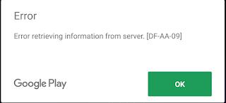 Google Play – Error retrieving information from server:
