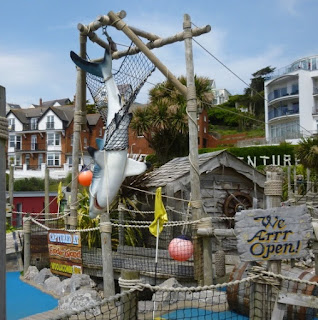 Funder Island Adventure Golf in Woolacombe, Devon