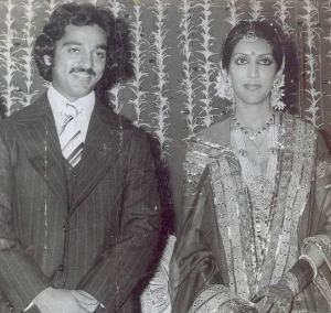 Kamal Haasan with Vani Ganapathi