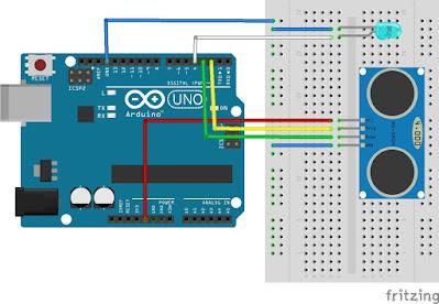 Project Arduino dengan Sensor Ultrasonik dan Lampu LED