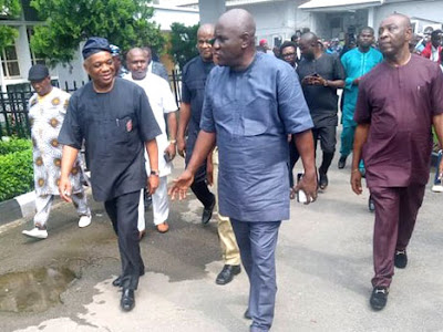 Orji Kalu begs not to be handcuffed while being whisked to prison