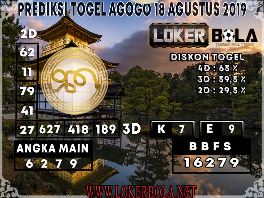 PREDIKSI TOGEL AGOGO LOKERBOLA 18 AGUSTUS 2019