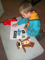 record beaver scout activities in notebook