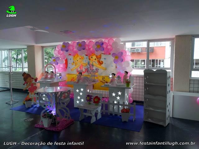 Decoração Bailarinas em mesa temática infantil provençal para festa de aniversário de meninas