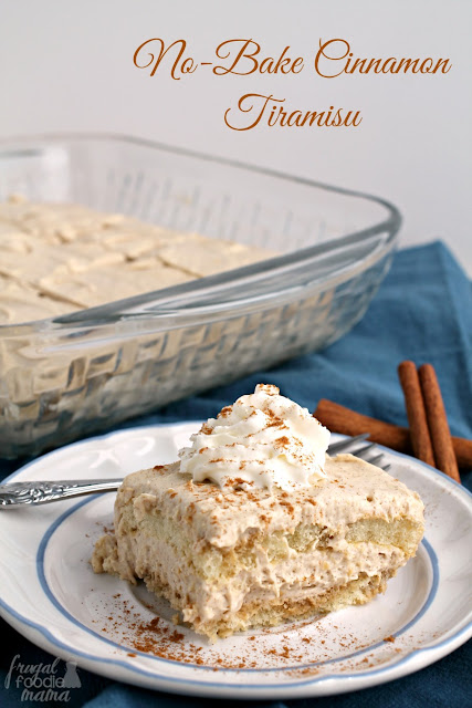 A traditional Italian dessert gets a tasty cinnamon spiced twist perfect for fall in this No-Bake Cinnamon Tiramisu.