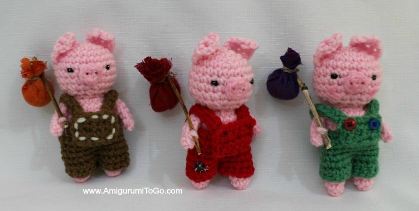 Three Little Pigs ~ Amigurumi To Go
