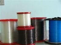 Foto de carreteis de linhas de pesca monofilamento nylon, multifilamento e fluorcarbono
