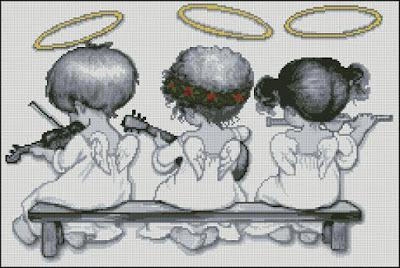 angels baby cross stitch pattern
