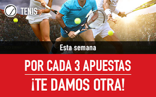 sportium Promo Tenis: Cada 3 te damos 1 22-28 octubre