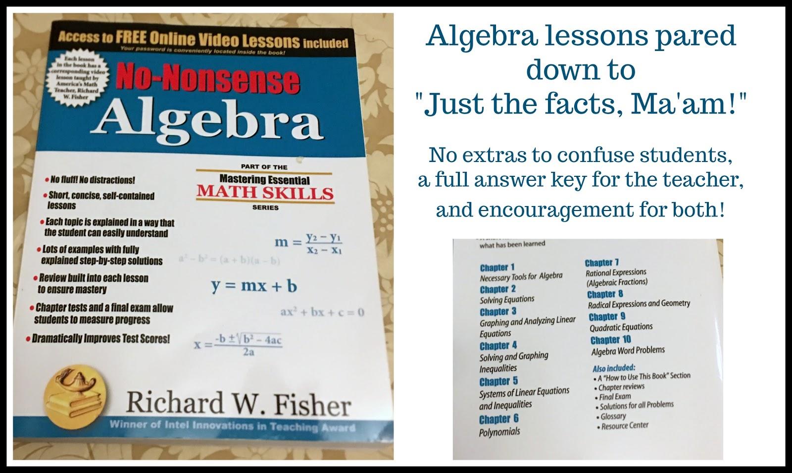 Adventures with Jude: Math Essentials: No-Nonsense Algebra ...