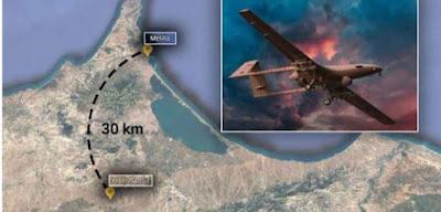 """قلق اسباني متزايد من قاعدة مغربية لطائرات """"الدرون"""" العسكرية التي اقتناها المغرب من تركيا ويمركزها على بعد كيلومترات قليلة من مليلية"""