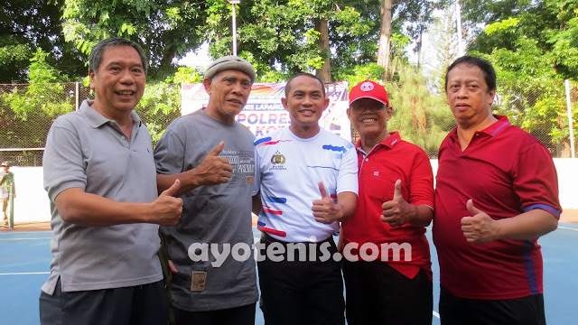 Muji Slamet Apresiasi Kejuaraan Tenis Kapolres Cup 2020 Satgas Nusantara Polres Kediri Kota