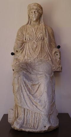 Agosto ´21: Dama o diosa Juno de Regina, en el Museo Arqueológico de Badajoz