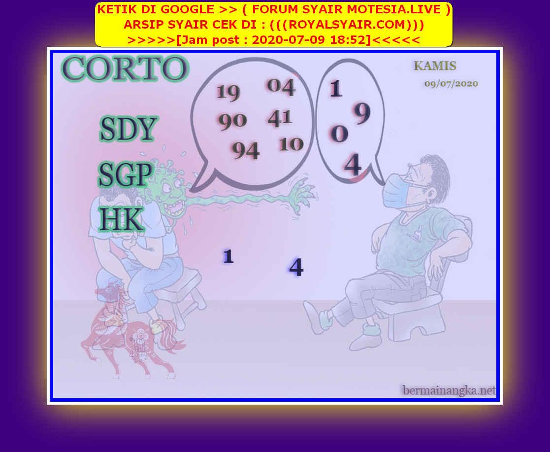 Kode syair Hongkong Kamis 9 Juli 2020 129