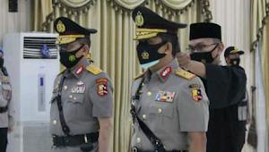 Sertijab Wakapolda dilingkungan Polda Banten, Ini penggantinya