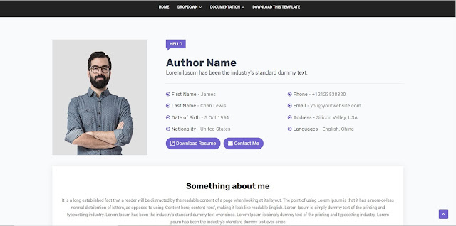 Director free blogger template