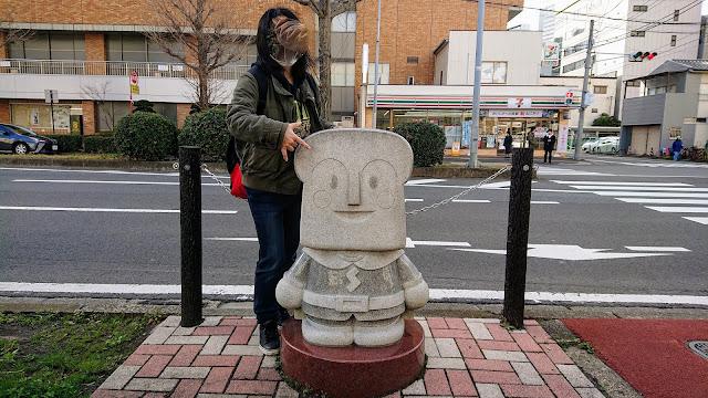 宮城県仙台市 しょくぱんまん像