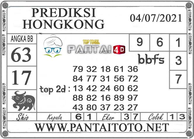 PREDIKSI TOGEL HONGKONG PANTAI4D 04 JULI 2021