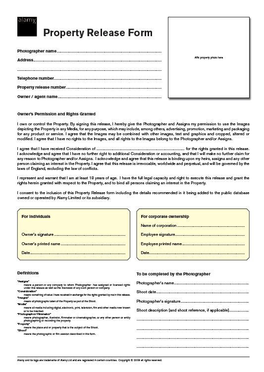 Beautiful Photography Model Release form Sample Model Release form 9 ...