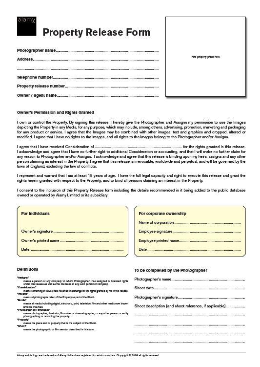 Tamara Weatherburn Major Assessment Project - AIS Week 7 - property release form