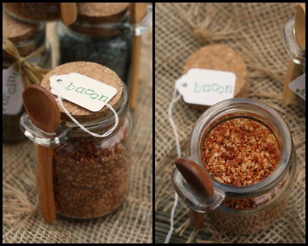 DIY Christmas Gifts Homemade Bacon Infused Sea Salt