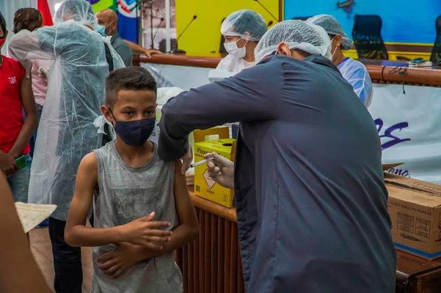 Definido calendário de vacinação contra covid-19 para adolescentes da região de rios em Santarém