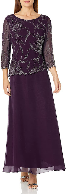 Long Purple Mother of The Bride Dresses