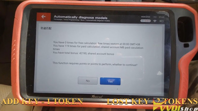 xhorse  vvdi key tool plus benz w204 2007 add key 4