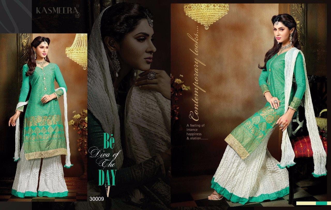 Kashmeera Plazzo-  Stylish Cotton Designer Plazzo with Dress Material