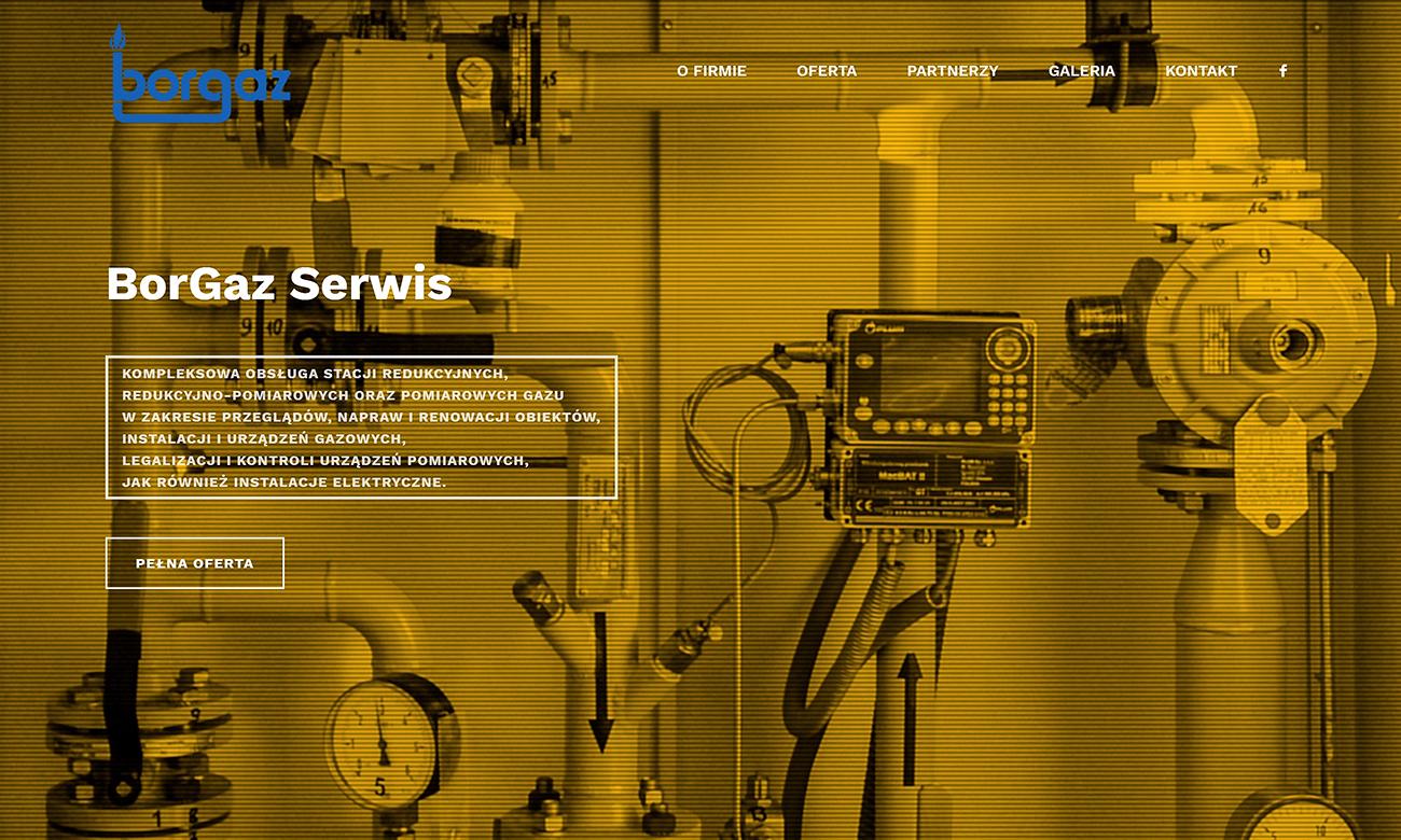 Projekt witryny internetowej serwisu gazowego Borgaz Serwis