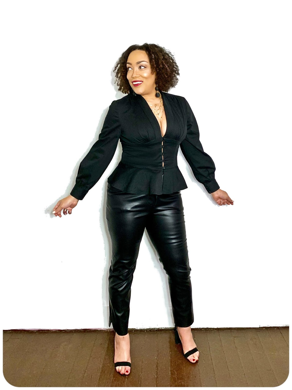 All Black Everything! Top: McCall's 7978 and Pants: Simplicity 8749 -- Erica Bunker DIY Style!