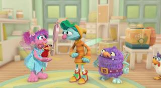 Abby Cadabby, Blögg, Gonnigan, Mrs. Sparklenose, Abby's Flying Fairy School The Rapunzel Dilemma. Sesame Street Episode 4418 The Princess Story season 44