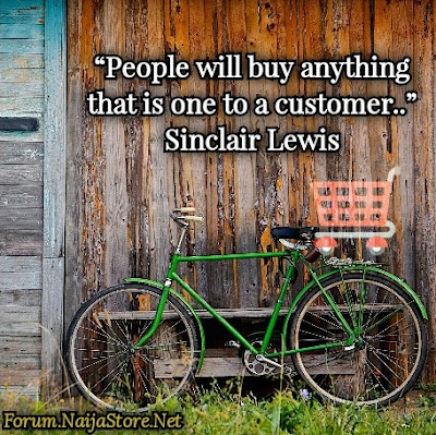 Sinclair Lewis: People will buy anything that is one to a customer - Shoppers Quotes