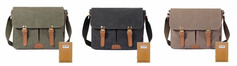 Kaukko Messenger Canvas and Leather Messenger Bag for only $25 (reg $79)